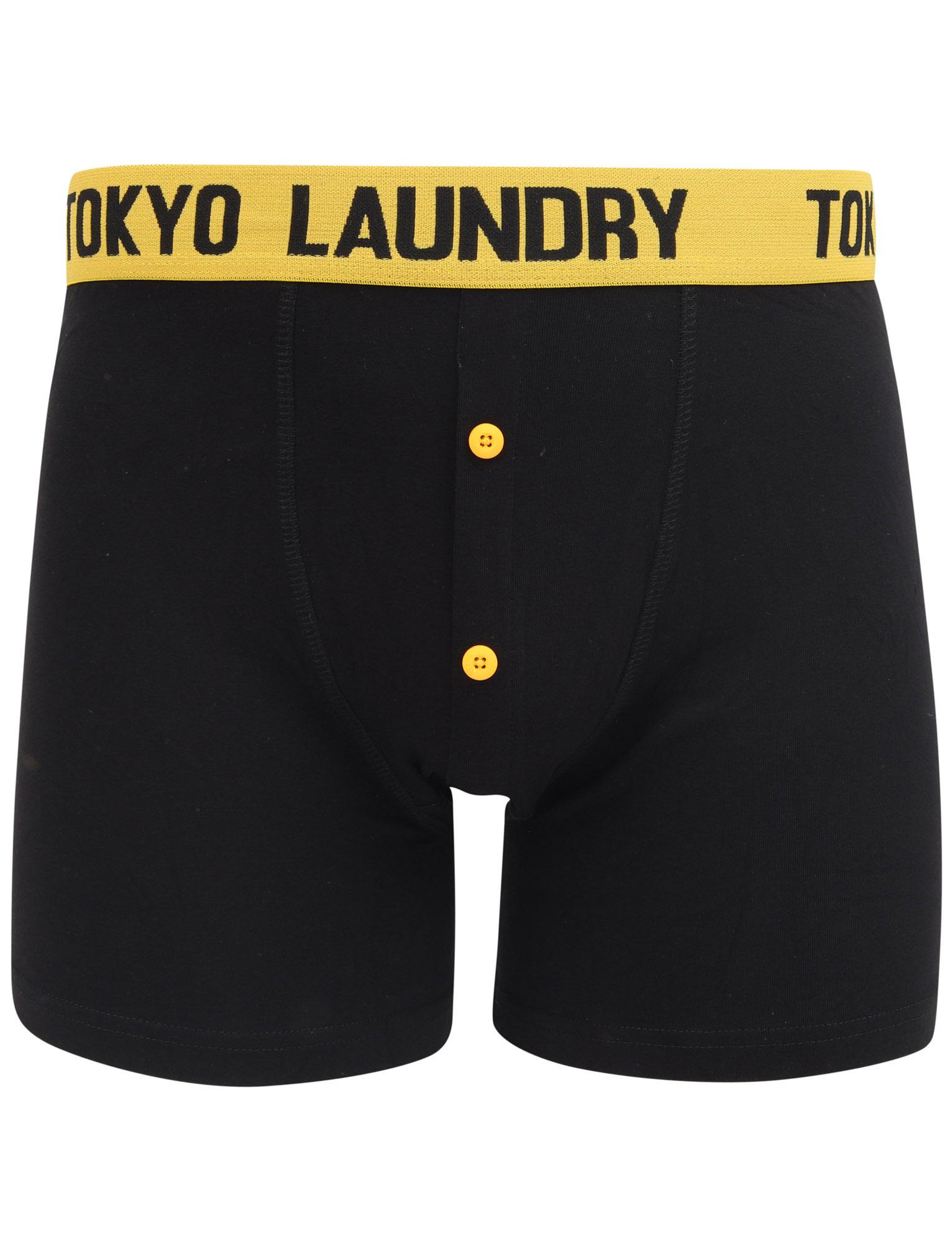 New-Mens-Tokyo-Laundry-2-Pack-Buttoned-Cotton-Rich-Boxer-Shorts-Set-Size-S-XXL thumbnail 18