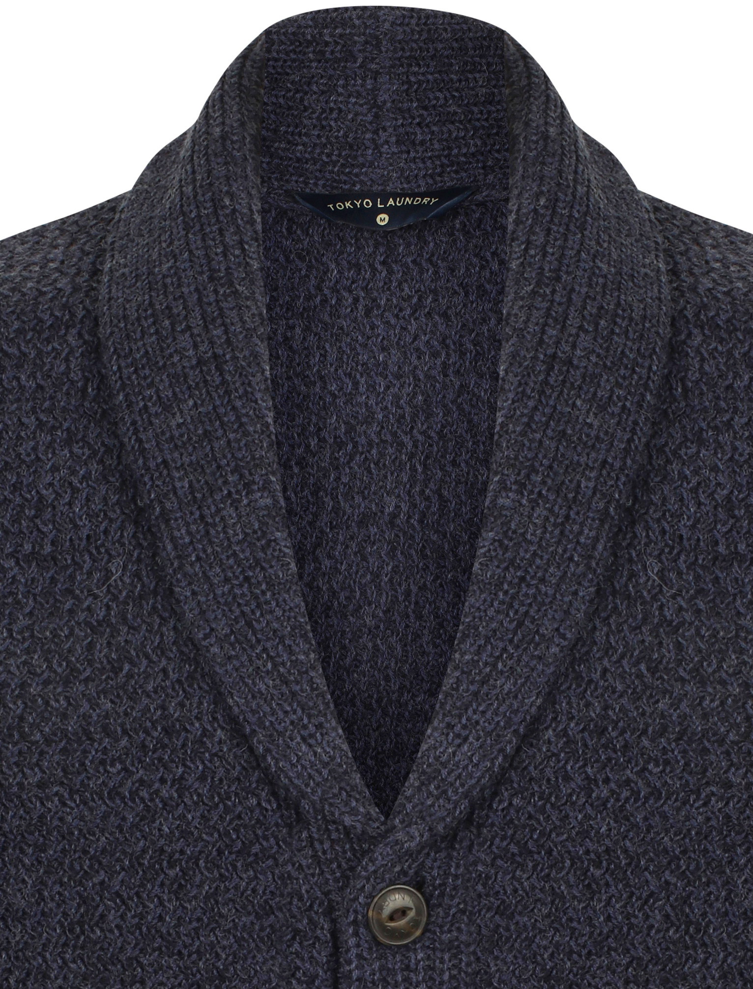 Tokyo-Laundry-Mens-Cardigan-Shawl-Neck-Long-Sleeve-Wool-Blend-Knitted-Button-Up thumbnail 22
