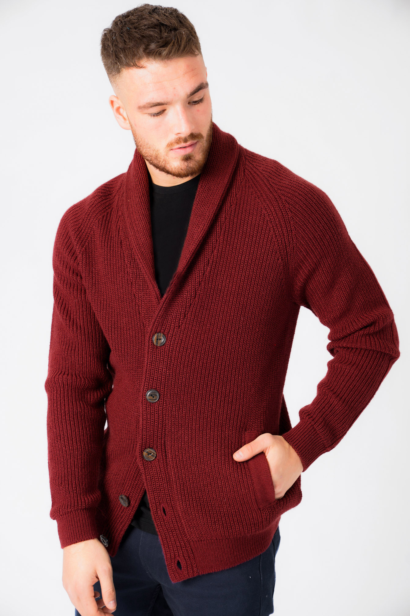 New-Mens-Tokyo-Laundry-Shawl-Neck-Long-Sleeve-Wool-Blend-Cardigans-Size-S-XXL thumbnail 10
