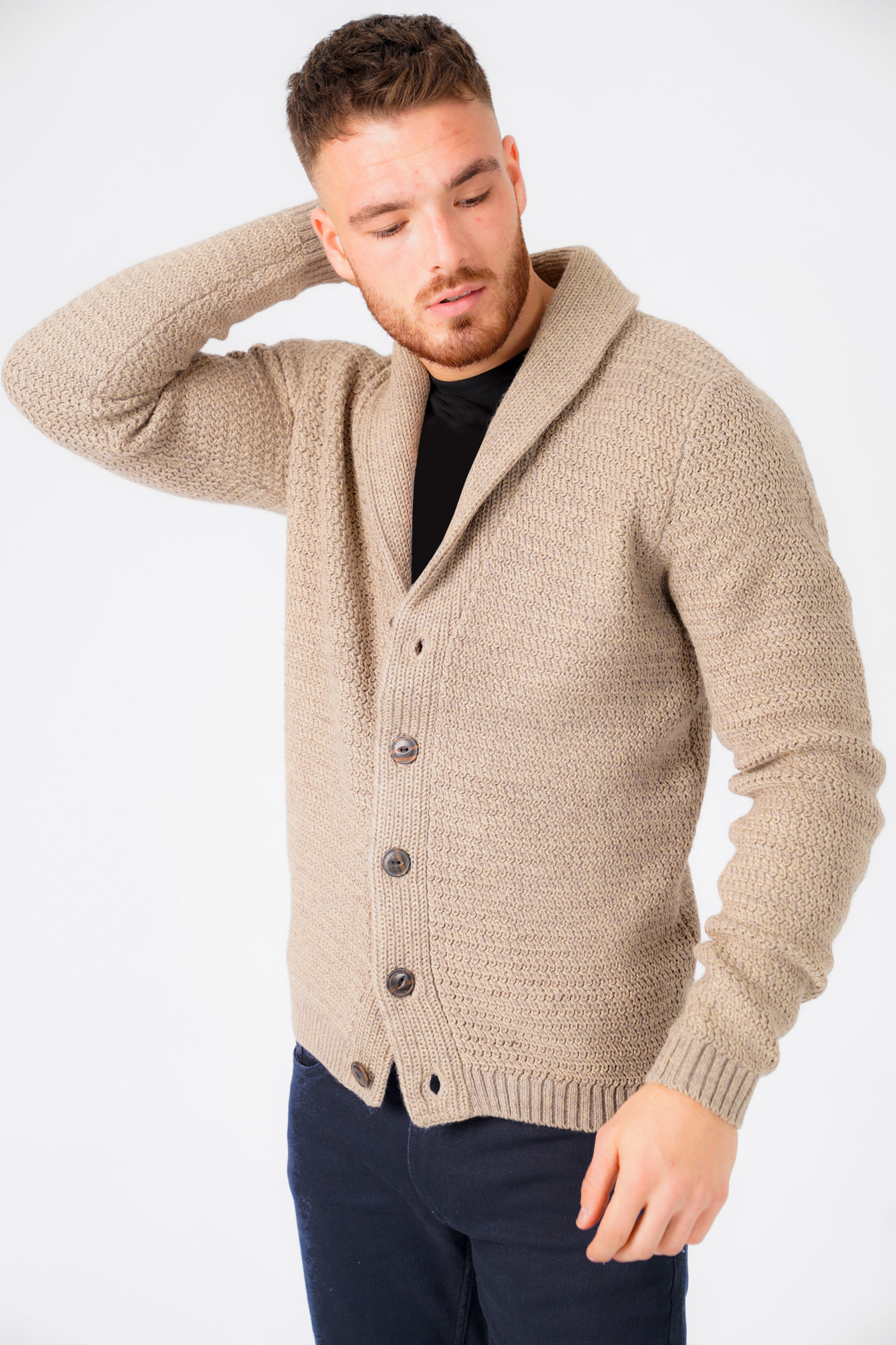 New-Mens-Tokyo-Laundry-Shawl-Neck-Long-Sleeve-Wool-Blend-Cardigans-Size-S-XXL thumbnail 29