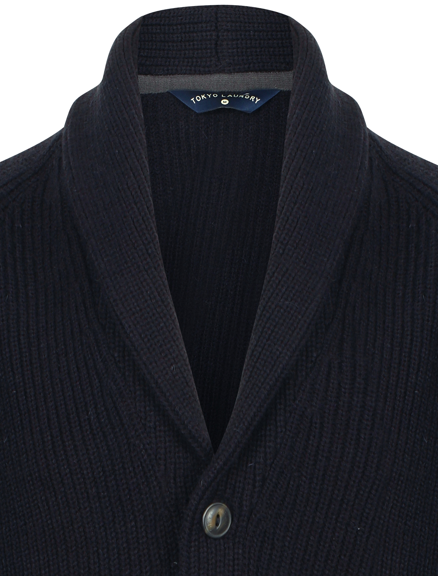 New-Mens-Tokyo-Laundry-Shawl-Neck-Long-Sleeve-Wool-Blend-Cardigans-Size-S-XXL thumbnail 4