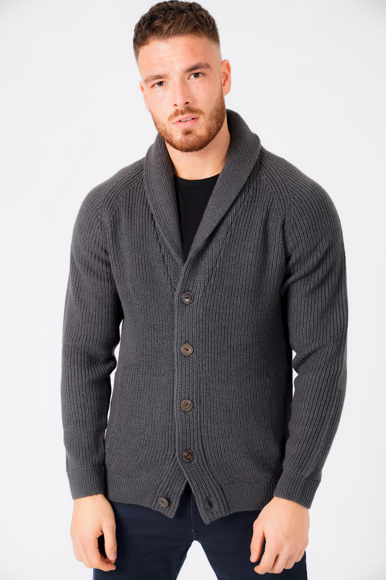 New-Mens-Tokyo-Laundry-Shawl-Neck-Long-Sleeve-Wool-Blend-Cardigans-Size-S-XXL thumbnail 15