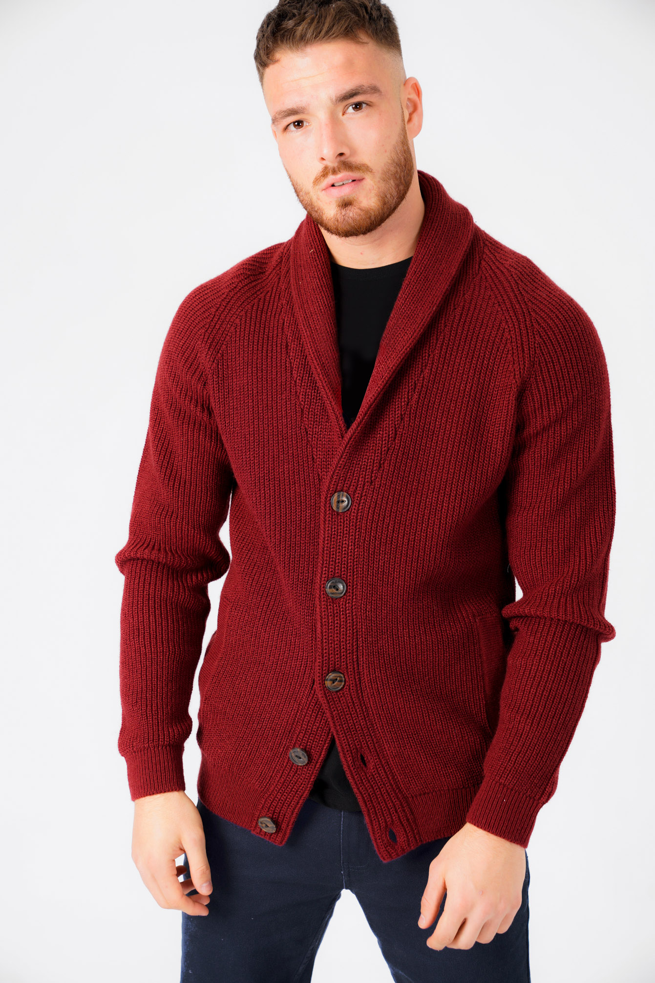 New-Mens-Tokyo-Laundry-Shawl-Neck-Long-Sleeve-Wool-Blend-Cardigans-Size-S-XXL thumbnail 8