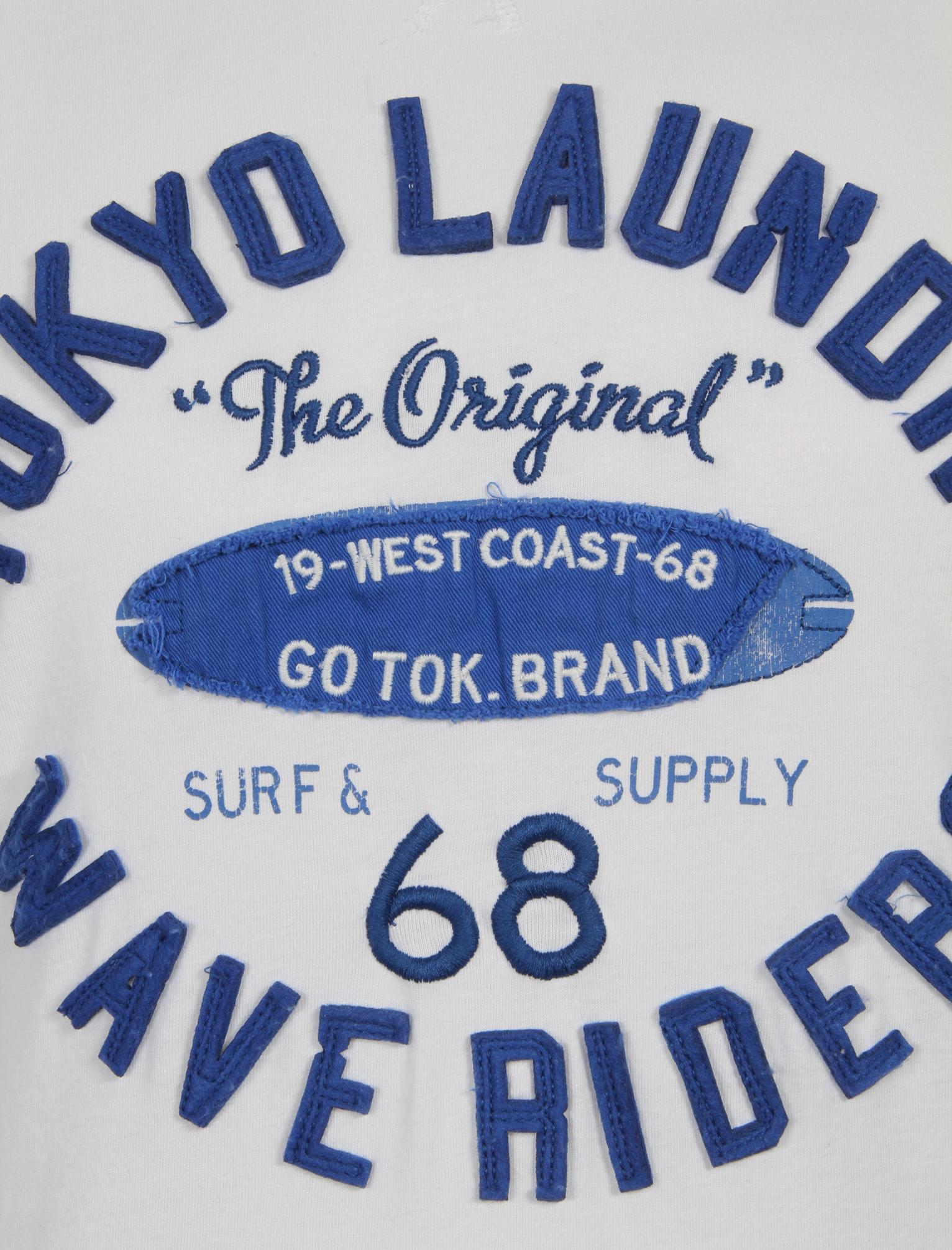 Nouveau Homme Tokyo Laundry Wave Riders Motif à Manches Courtes Top T-shirt Taille S-XXL