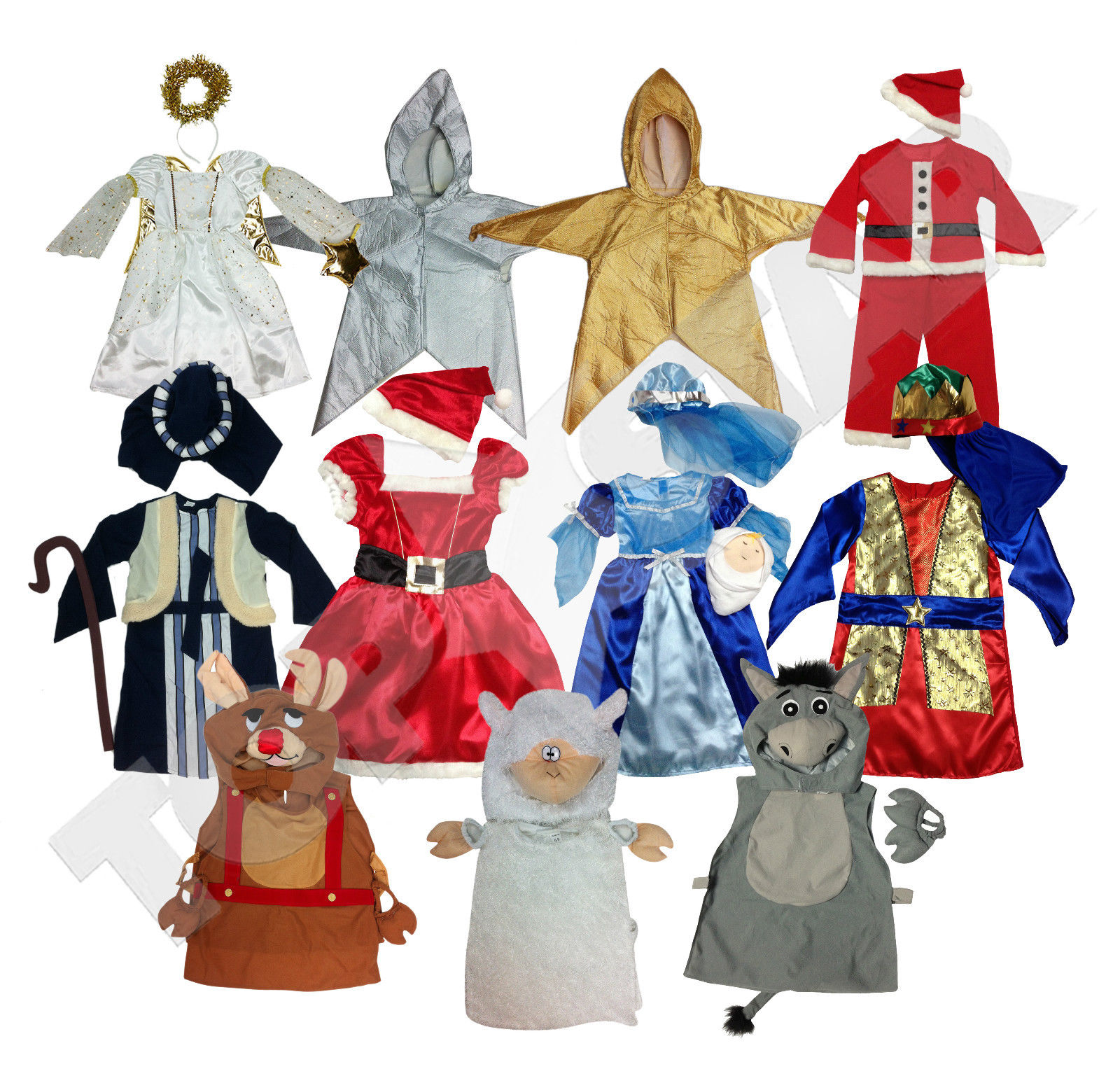 Nativity Play Costumes Christmas Fancy Dress Kids Dressup