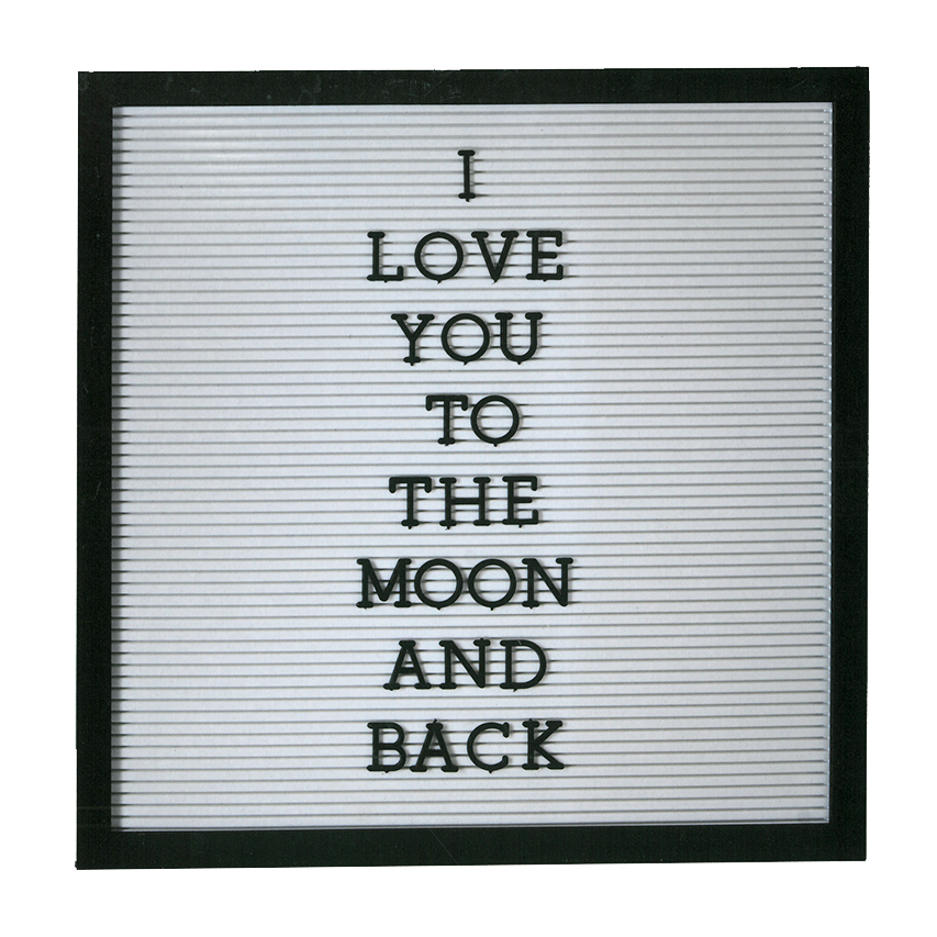 Create Your Own Message Board Personalised Display 188 Letters