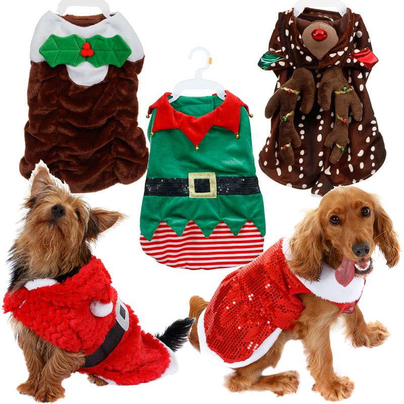 Christmas Novelty Pet Dog Costumes Xmas Festive Fancy