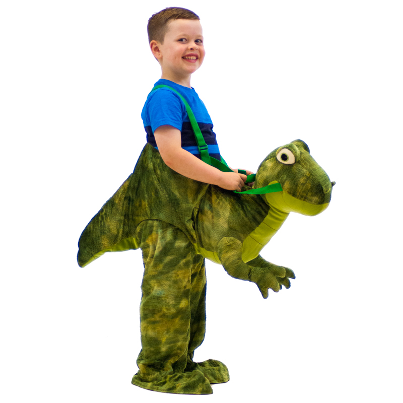 Kids Dress Up Dinosaur Dino Rider Costume T Rex Raptor
