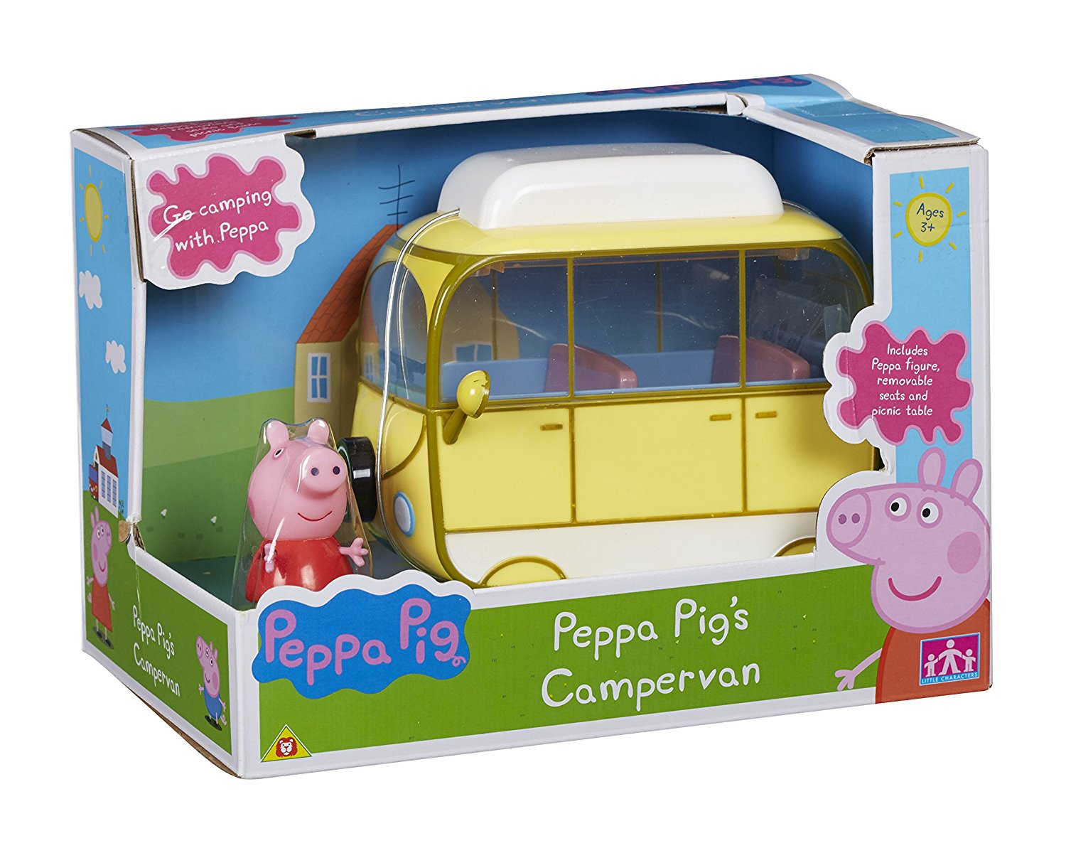 Details About Peppa Pig Mini Vehicles Car Helicopter Campervan School Bus Police Car Boat