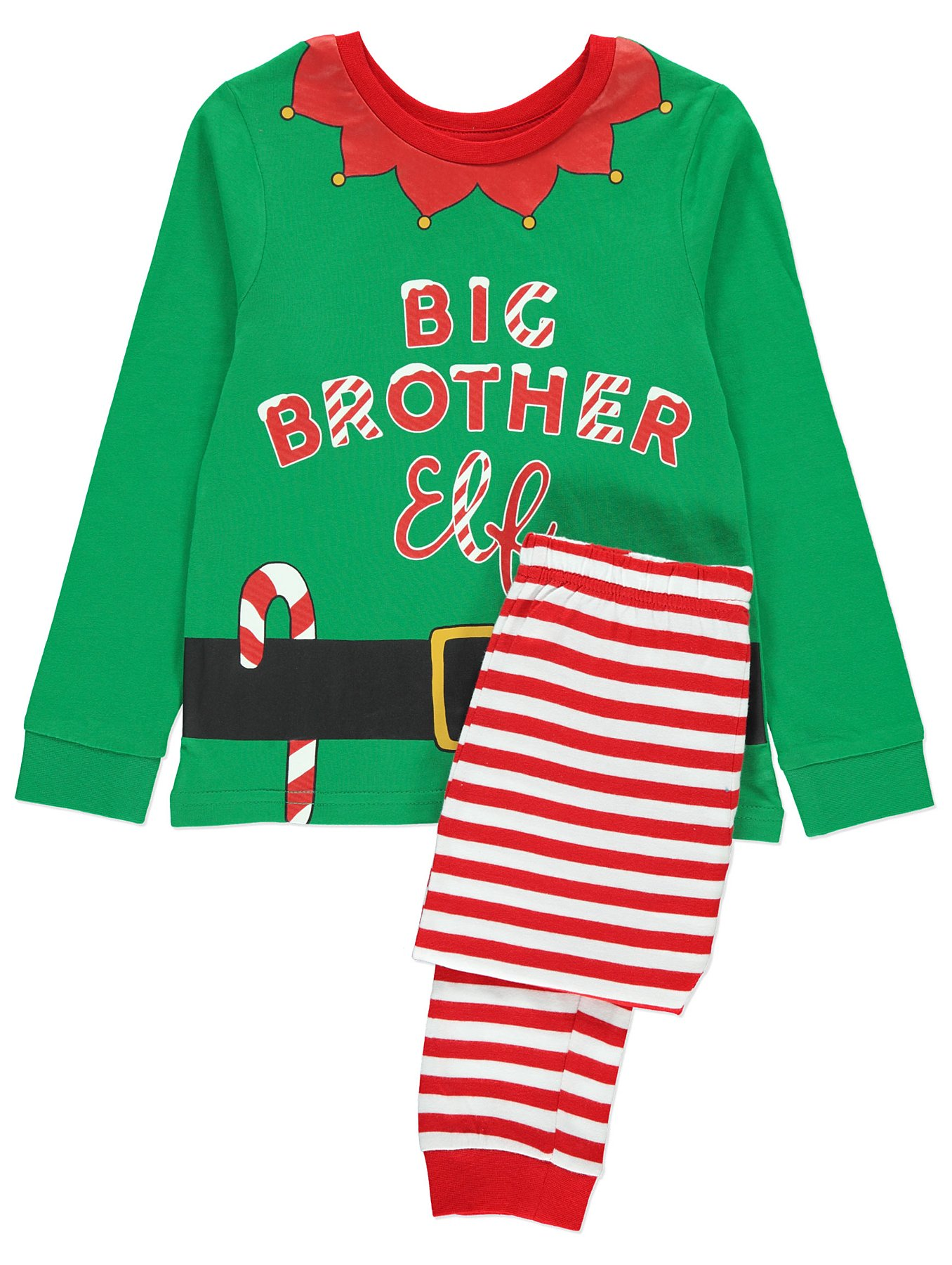 Family Elf Matching Christmas Pyjama Pj Set Sister Brother