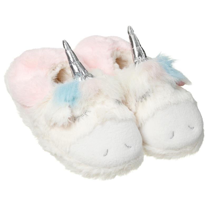 Ladies Girls Novelty Unicorn Mule Slippers Super Soft