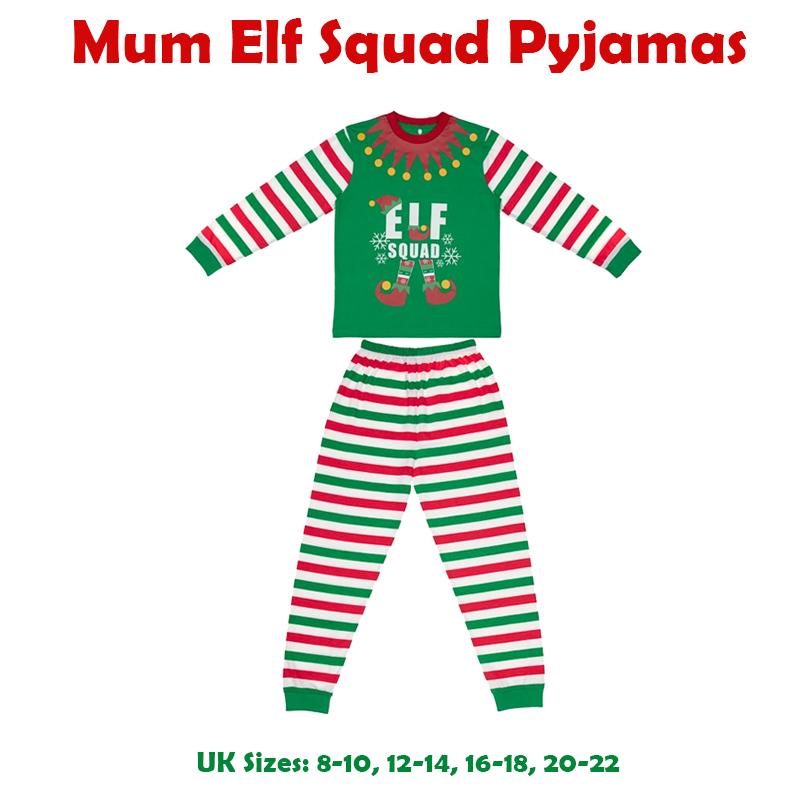 3e16f23038 Elf Family Pyjamas Squad Christmas Mum Dad Children Baby Christmas Family PJ