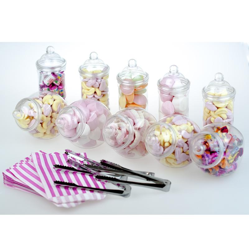 10x small jars sweet shop candy buffet wedding kids party kit 4