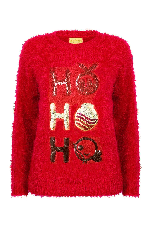 7d6f19b2213cbd Christmas Wishes Ladies New Designer Xmas Jumper Soft Eyelash ...