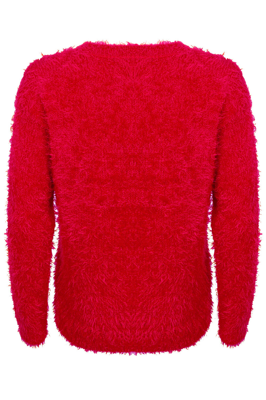 Christmas Wishes Ladies New Designer Xmas Jumper Soft Eyelash Knitted Sweaters