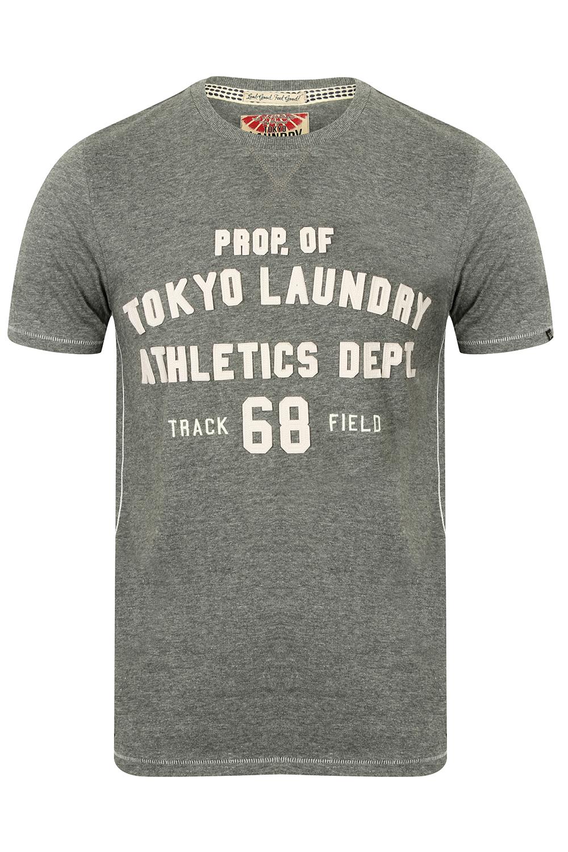 Tokyo Laundry Homme Henryville T-shirt manches à manches T-shirt courtes léger haut à encolure ras-du-cou 9f93d0