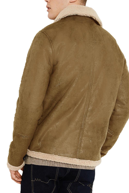 Threadbare Mens Lancaster Vintage Sherpa Fleece Lined Coat Borg ...