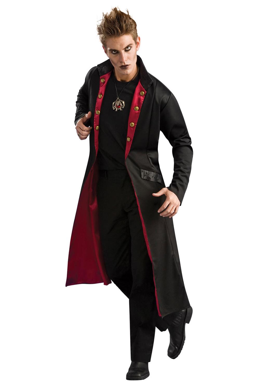 mens vampire coat rubies new rockstar medieval halloween