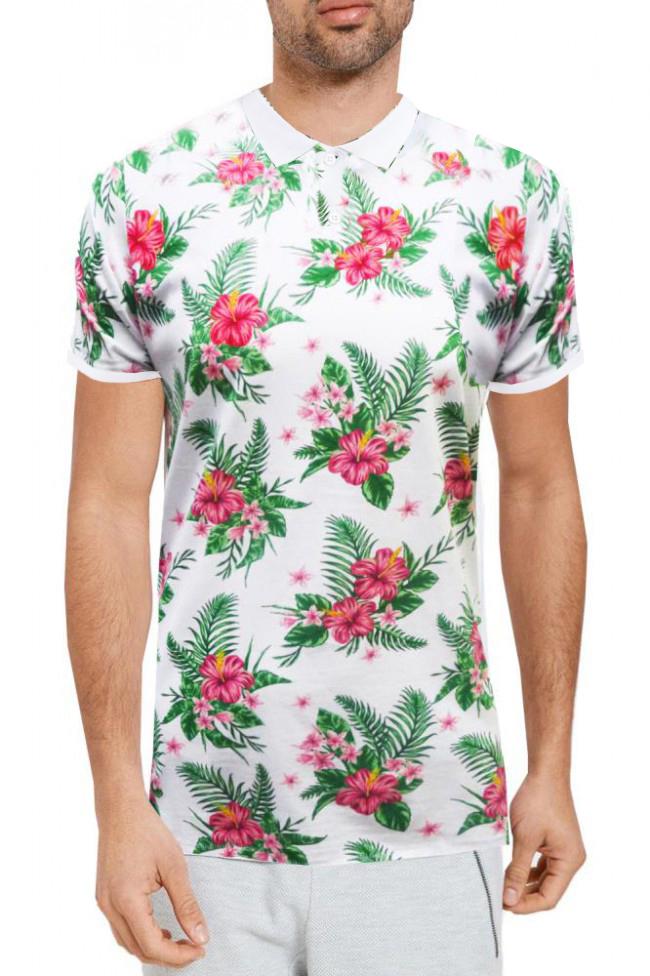 Threadbare mens tiki or fallbrook printed polo shirt for T shirt printing hawaii