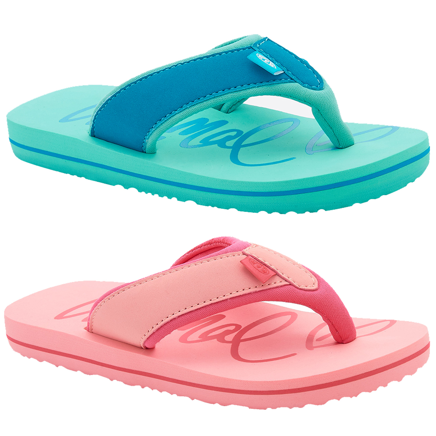 9377f805da5f76 Details about Animal Official Girls Swish Logo Thong Flip-Flops Kids Beach  Pool Padded Sandals
