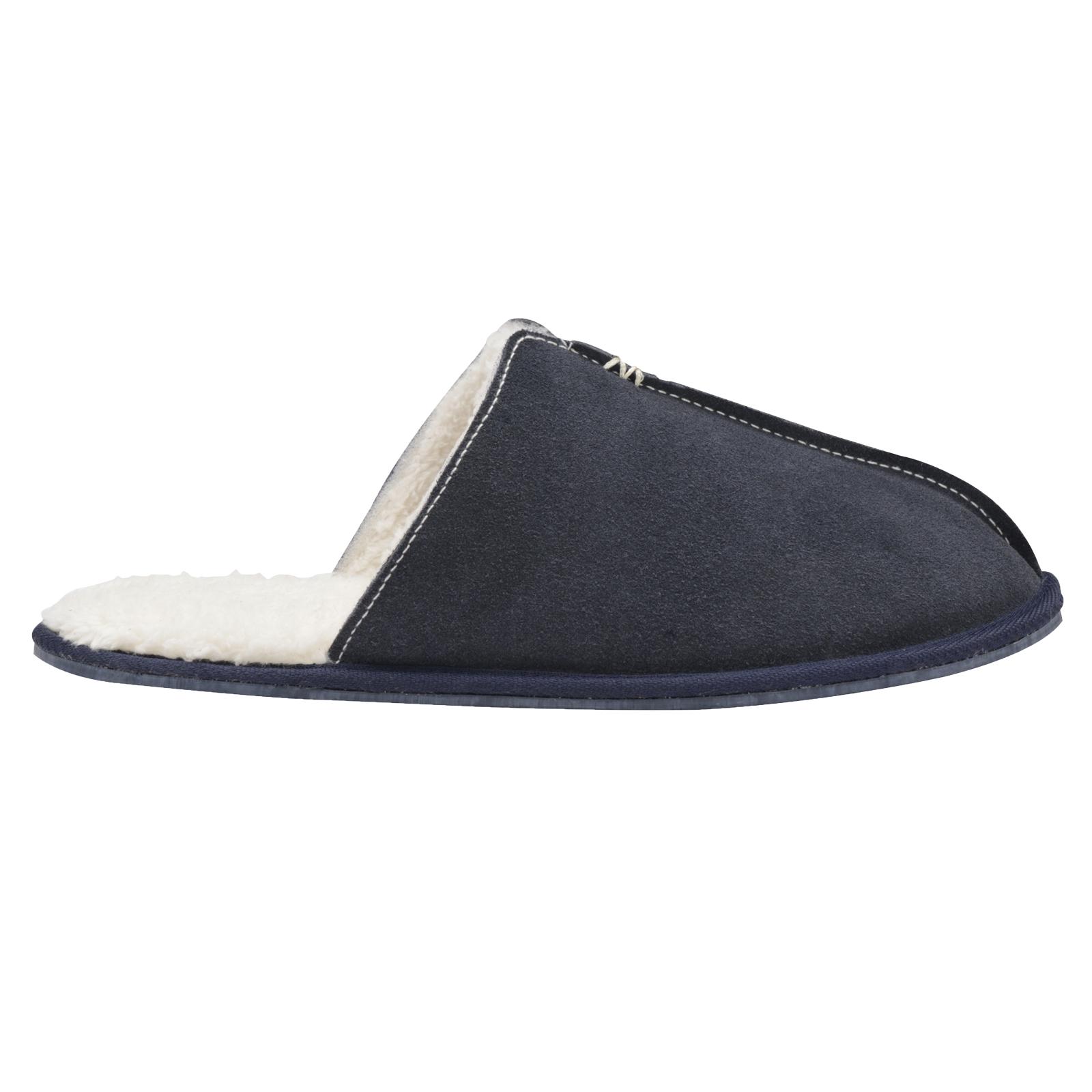 Mens Dunlop Brandon Or Amadieu Slipper Fleece Lined Luxury Faux Suede Mule Shoes