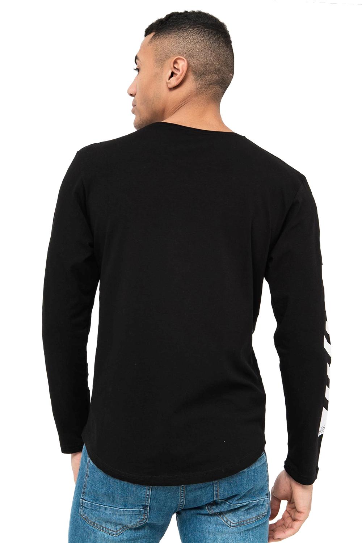 Crosshatch-Mens-Coolana-Designer-T-Shirt-Crew-Neck-Long-Sleeve-Stylish-Tee-Top thumbnail 3