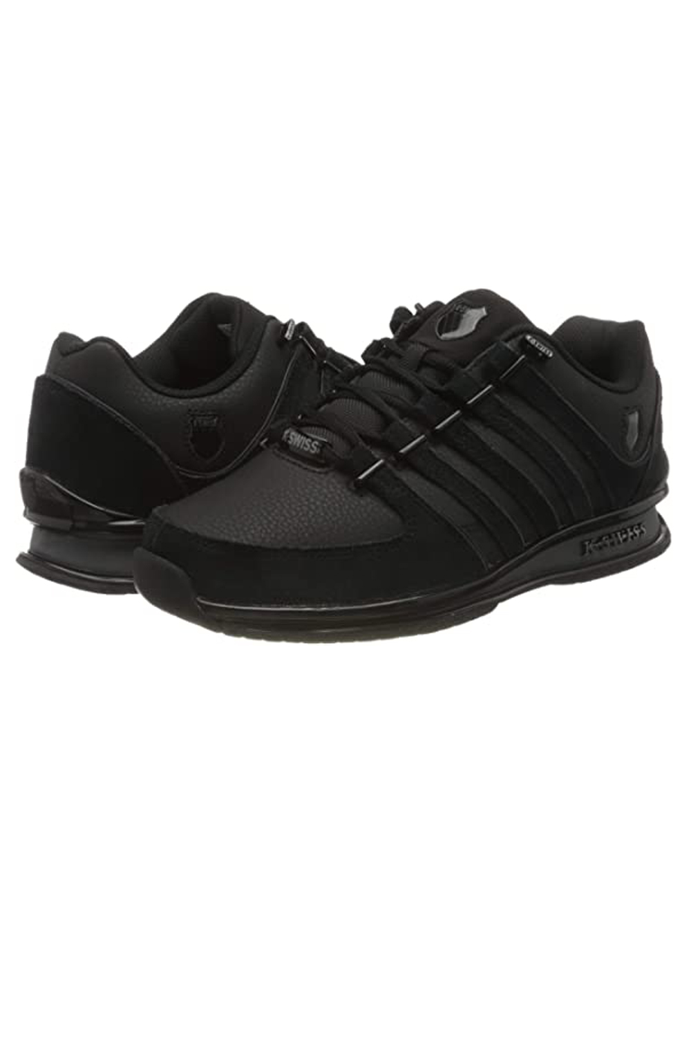 thumbnail 4 - K-Swiss Mens Comfortable Low Top Classic Leather Suede Rinzler Trainers Sneakers