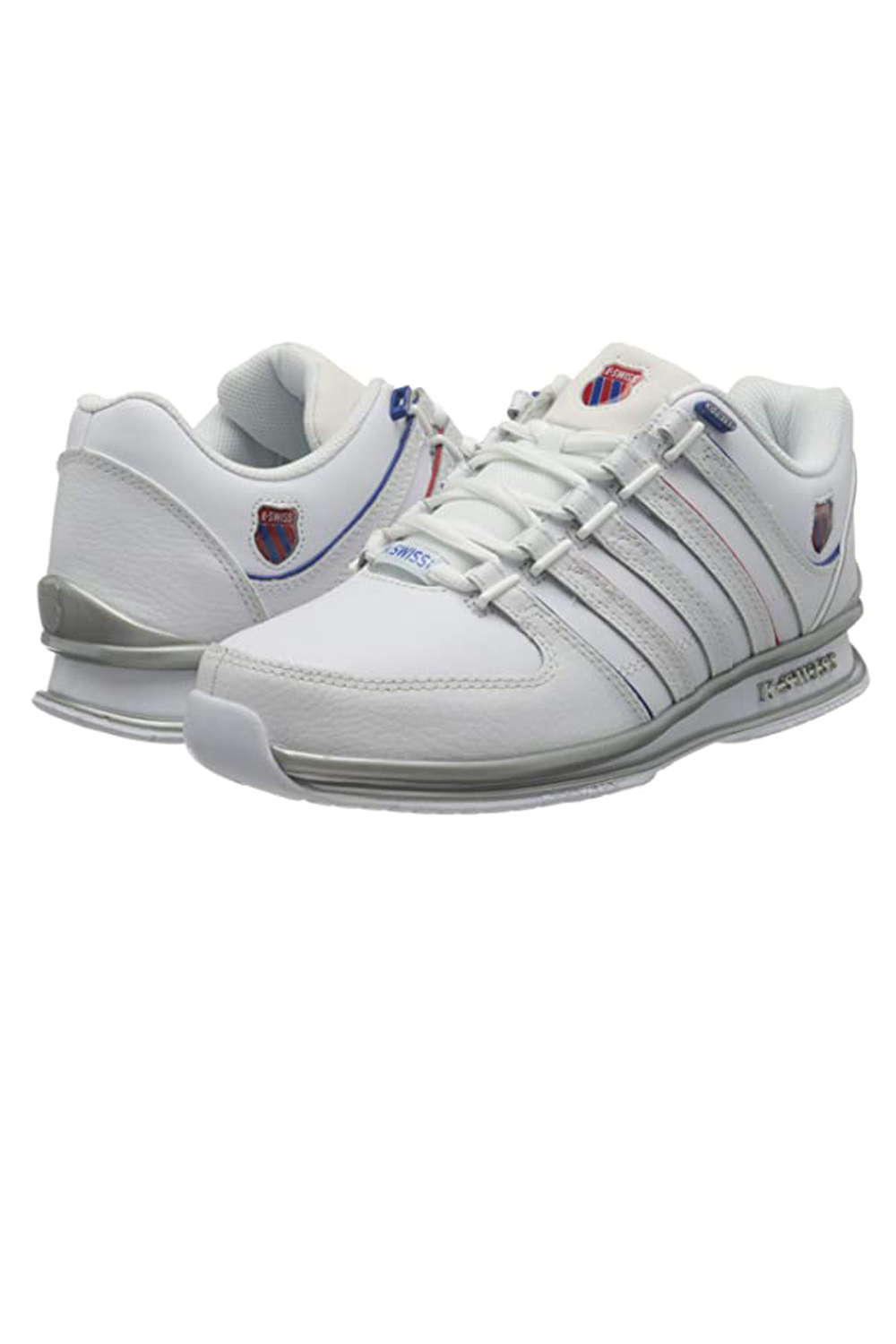thumbnail 25 - K-Swiss Mens Comfortable Low Top Classic Leather Suede Rinzler Trainers Sneakers