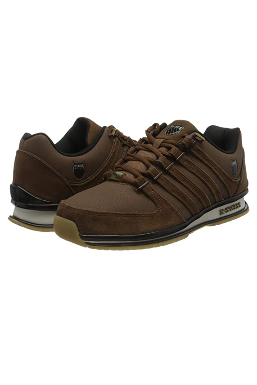 thumbnail 19 - K-Swiss Mens Comfortable Low Top Classic Leather Suede Rinzler Trainers Sneakers