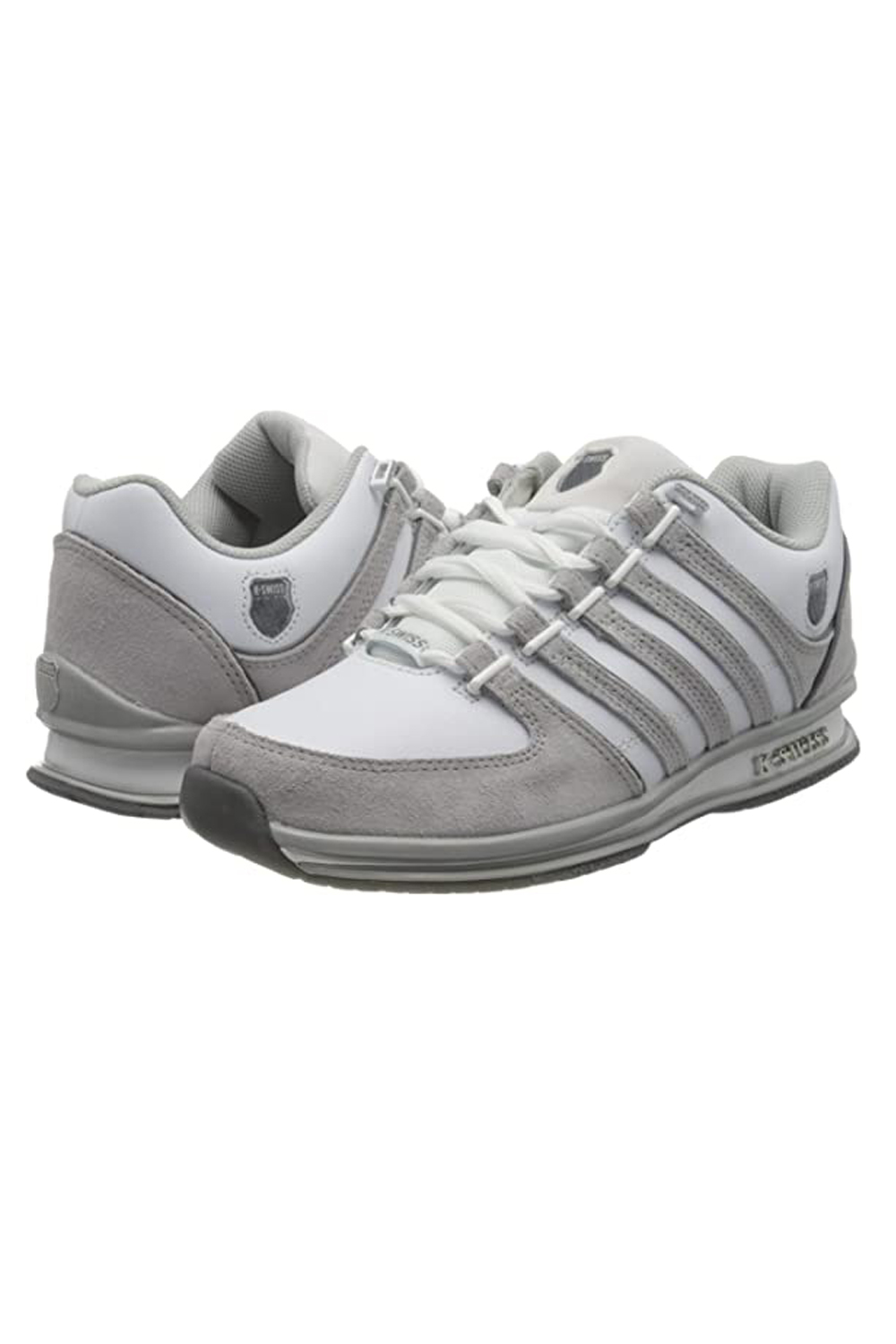 thumbnail 14 - K-Swiss Mens Comfortable Low Top Classic Leather Suede Rinzler Trainers Sneakers