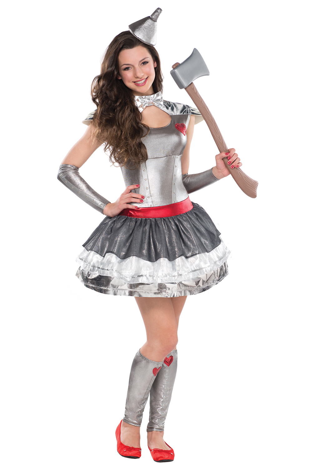 girls tin hearthrob fancy dress costume teens wizard of oz new