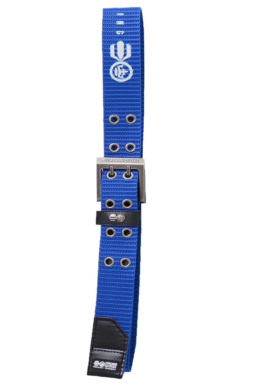Crosshatch-Para-Hombres-statewood-con-membranas-Casual-PU-detallada-dos-Pin-Metal-Hebilla-Cinturon
