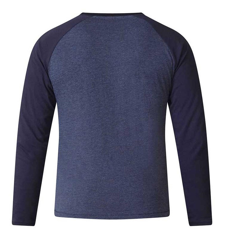 Duke D555 Mens King Size Neil Long Sleeved Top Casual Cotton Rich Crew T Shirt