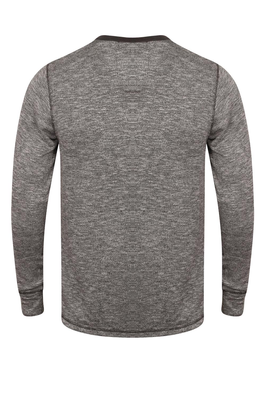 Tokyo Laundry Mens Designer T Shirt Marled Fabric Long Raglan Sleeve