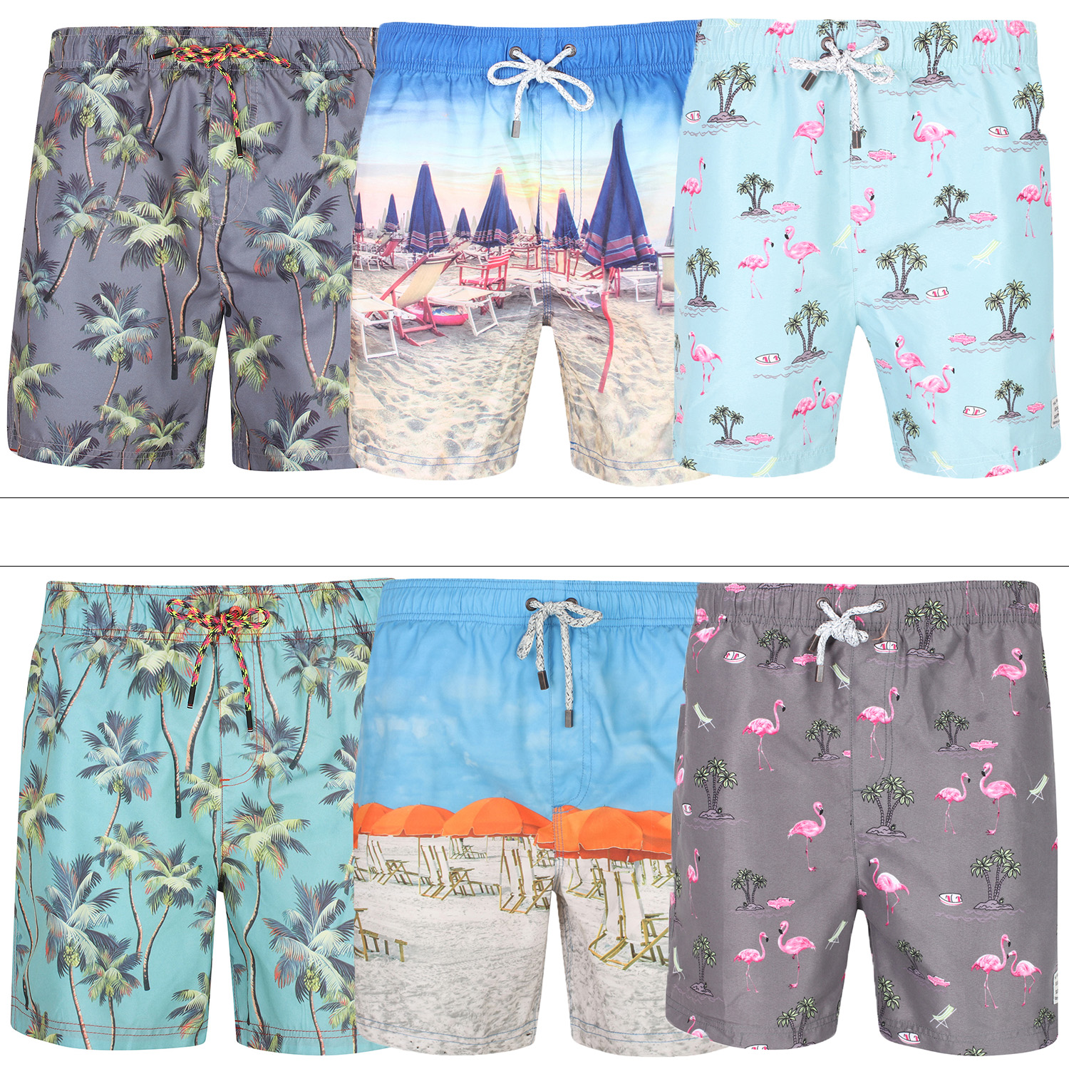7a522124 Details about Tokyo Laundry Mens Hawaiian Patterned Swim Shorts Summer  Beach Board Surf Trunks