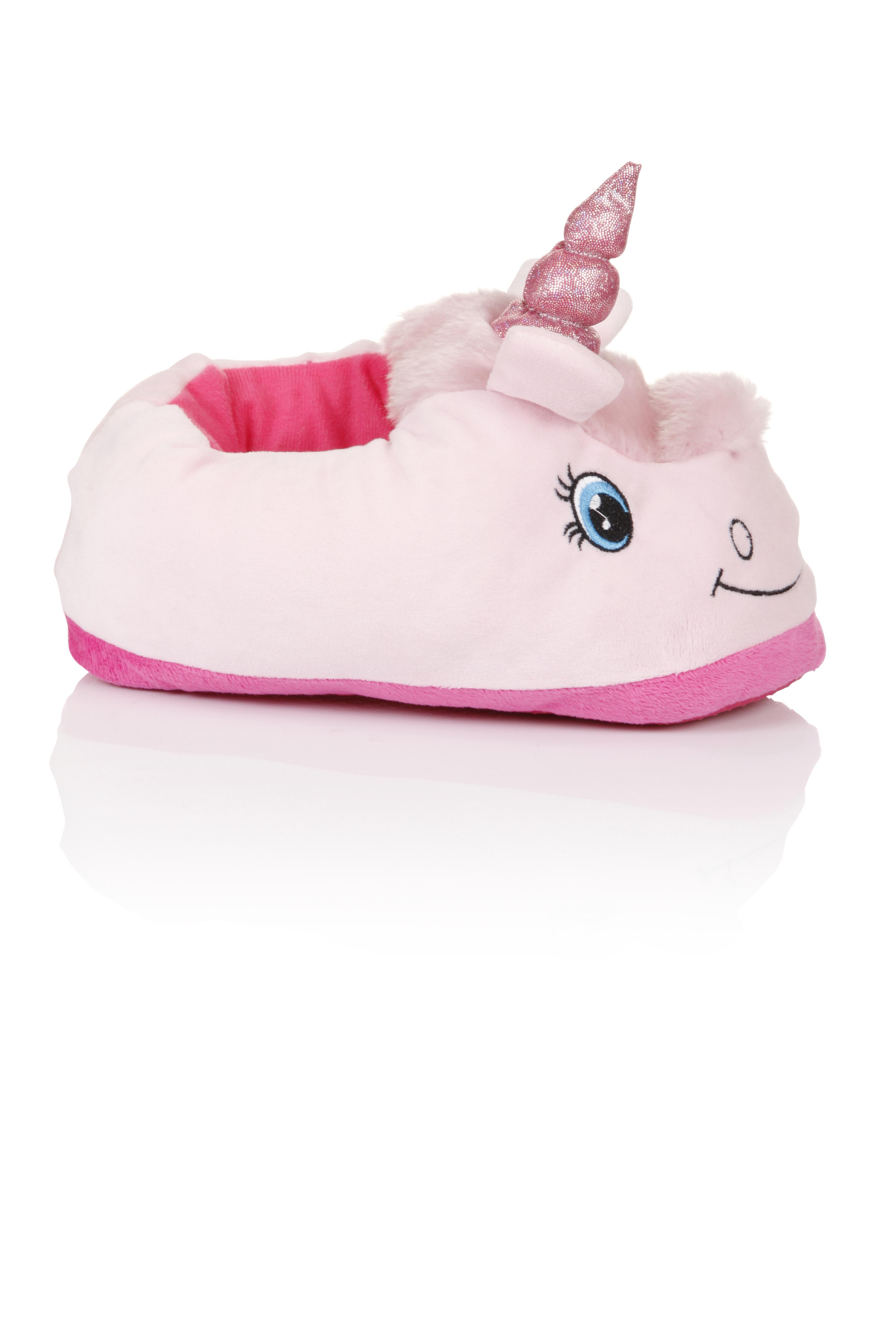 Nifty Kids Girls 3D Unicorn Slippers Cute Fantasy Animal Novelty