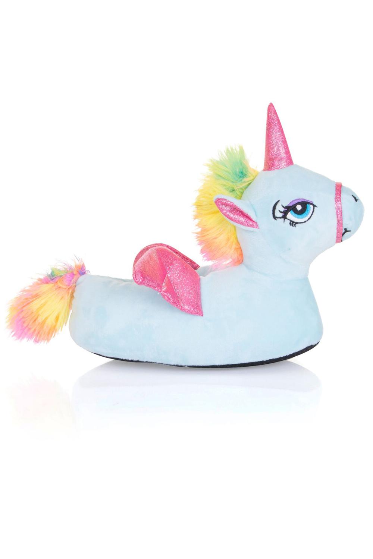 nifty kids girls 3d unicorn slippers cute fantasy animal. Black Bedroom Furniture Sets. Home Design Ideas