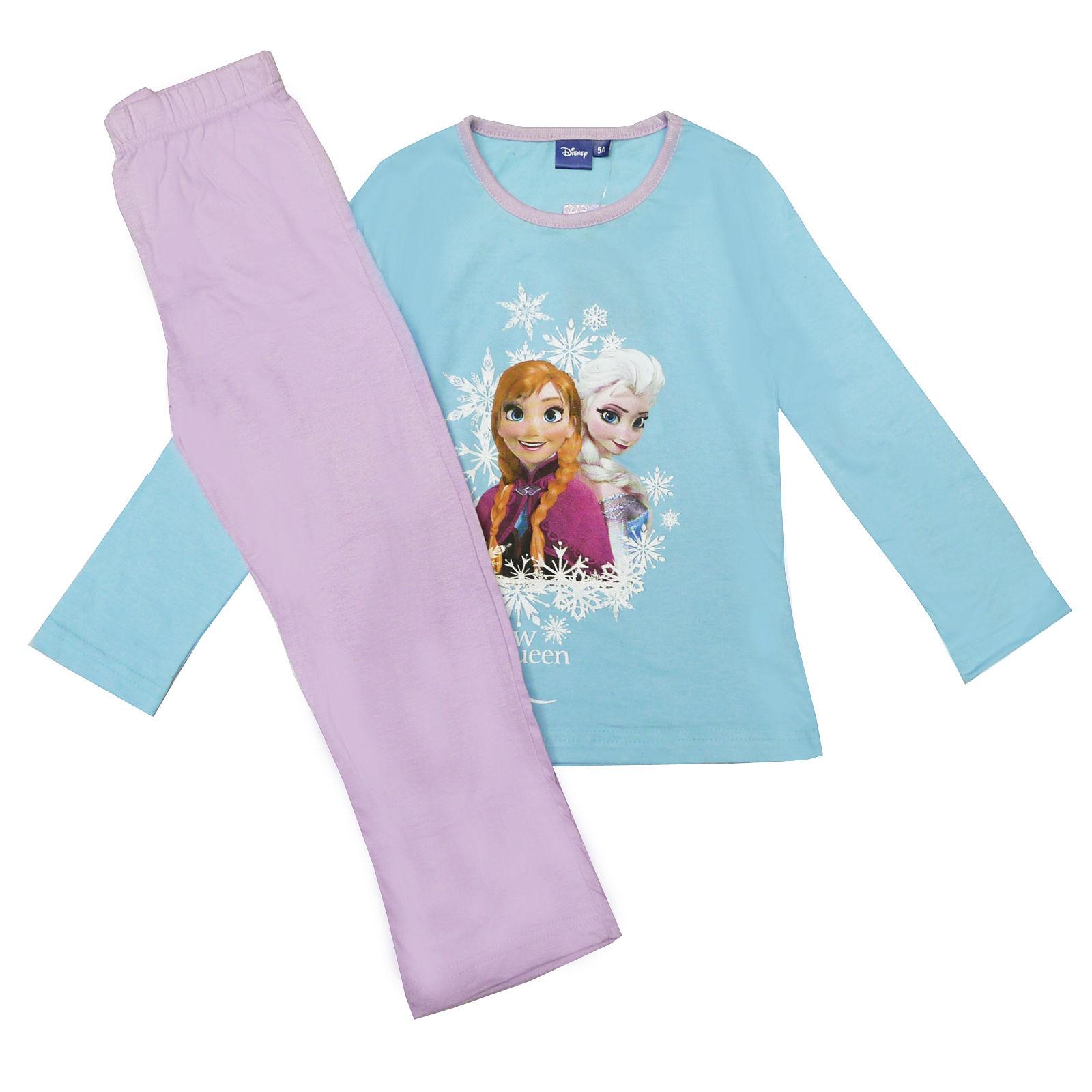 Official-Disney-Frozen-Elsa-Anna-Olaf-Childrens-Pyjama-Sets-amp-Long-Sleeved-Tops thumbnail 10