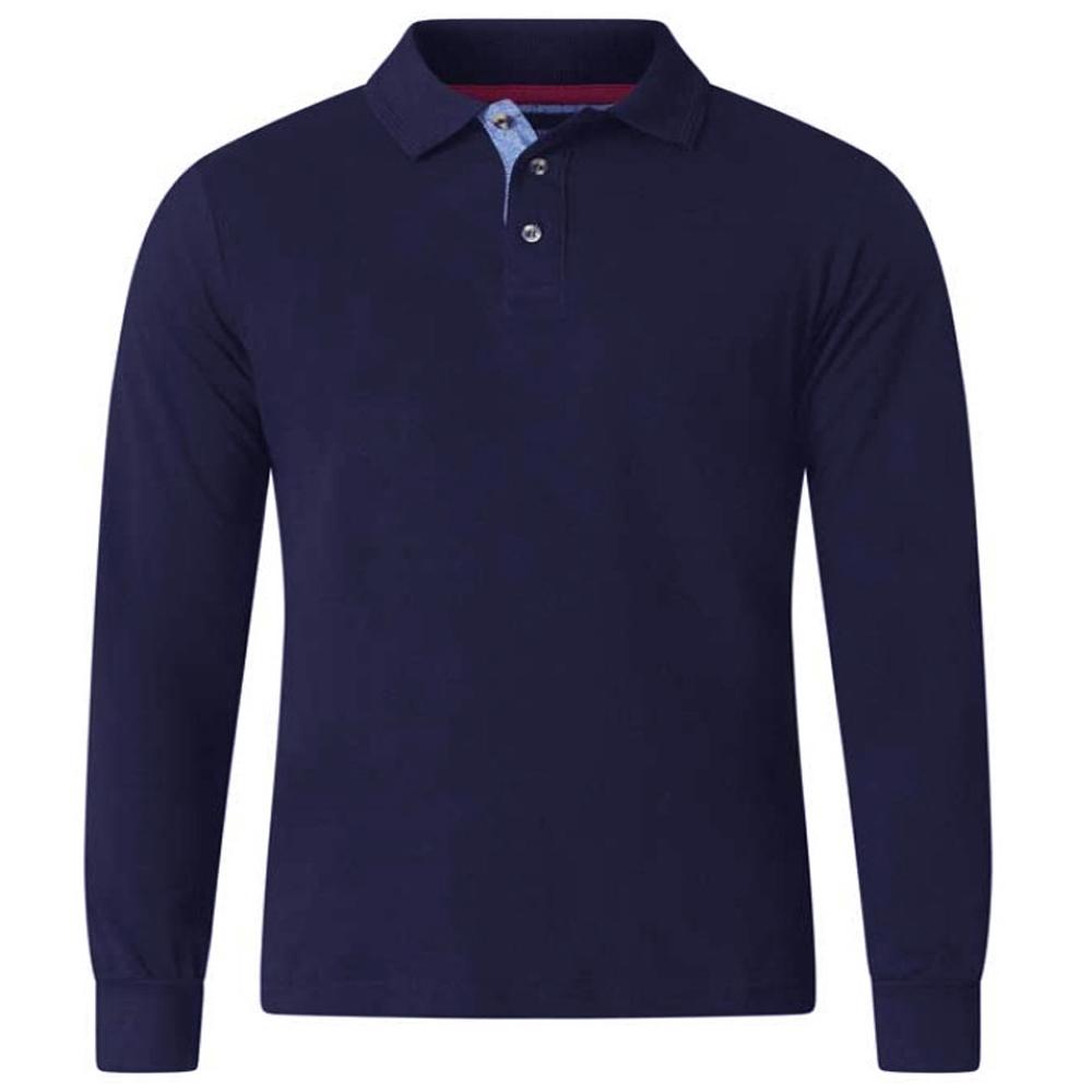 New Mens Kam Big /& Tall  Collared  Patterned Long Sleeve Shirt Navy