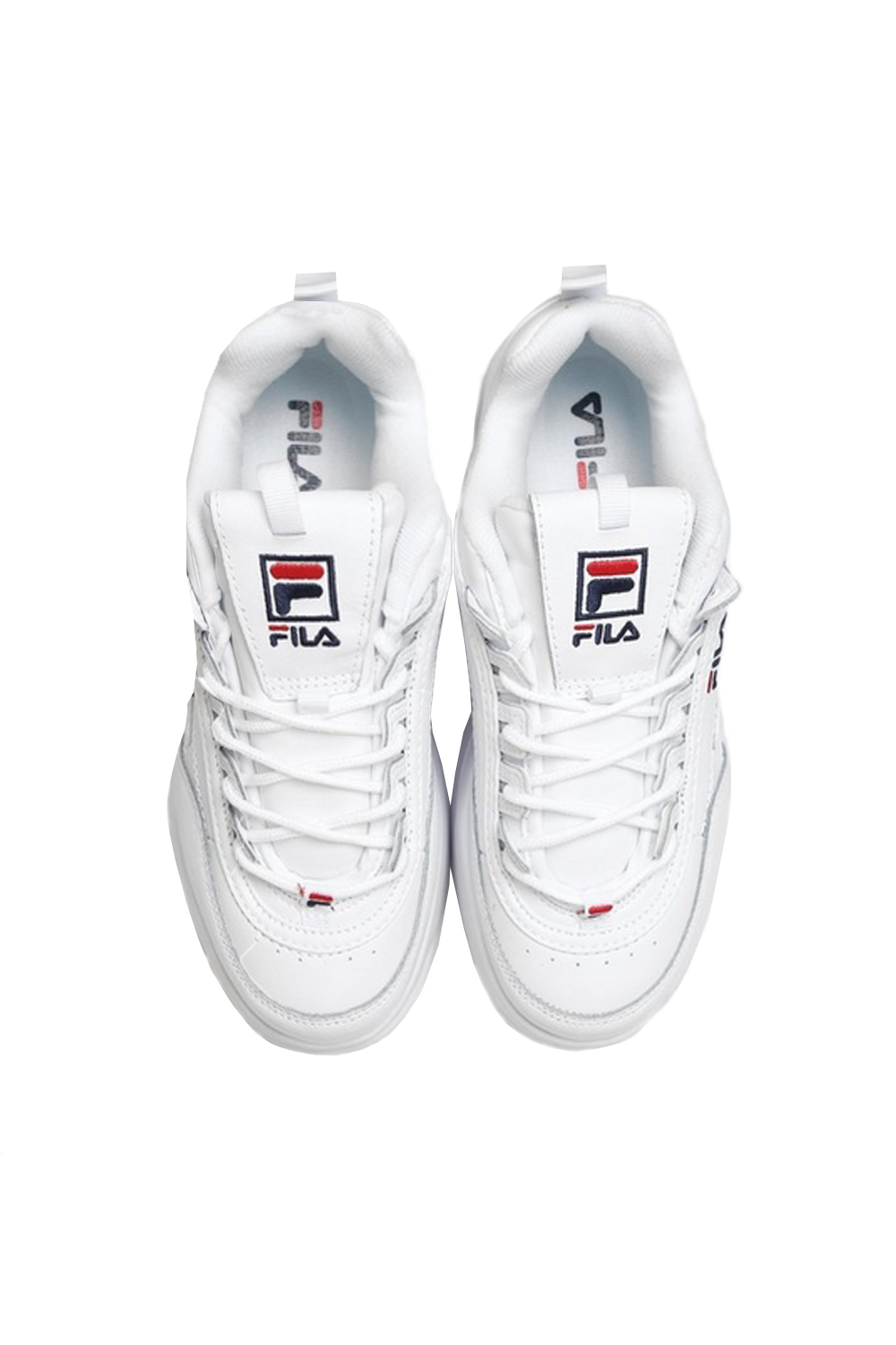 Fila-Disruptor-ll-Wedge-Womens-White-Trainers-Casual-Platform-Chunky-Heel-Shoes thumbnail 4