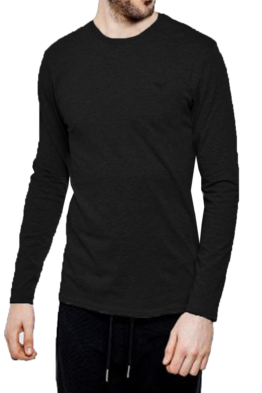 Threadbare-Mens-William-Long-Sleeve-T-Shirt-Cotton-Stretch-Round-Neck-Winter-Top thumbnail 3