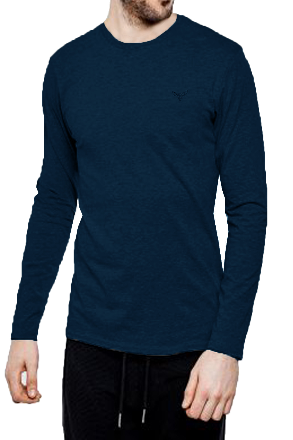 Threadbare-Mens-William-Long-Sleeve-T-Shirt-Cotton-Stretch-Round-Neck-Winter-Top thumbnail 6