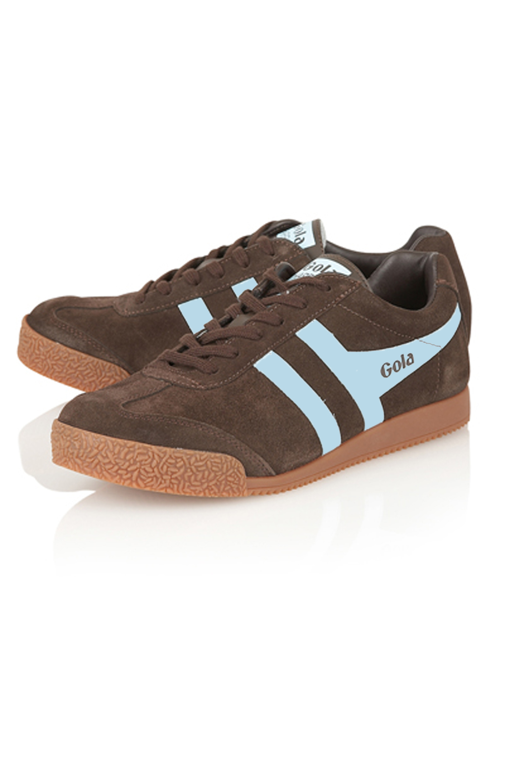 Gola-Harrier-Suede-Classic-Vintage-Lace-Up-Sneakers-Mens-Trainers-Low-Top-Shoes thumbnail 17