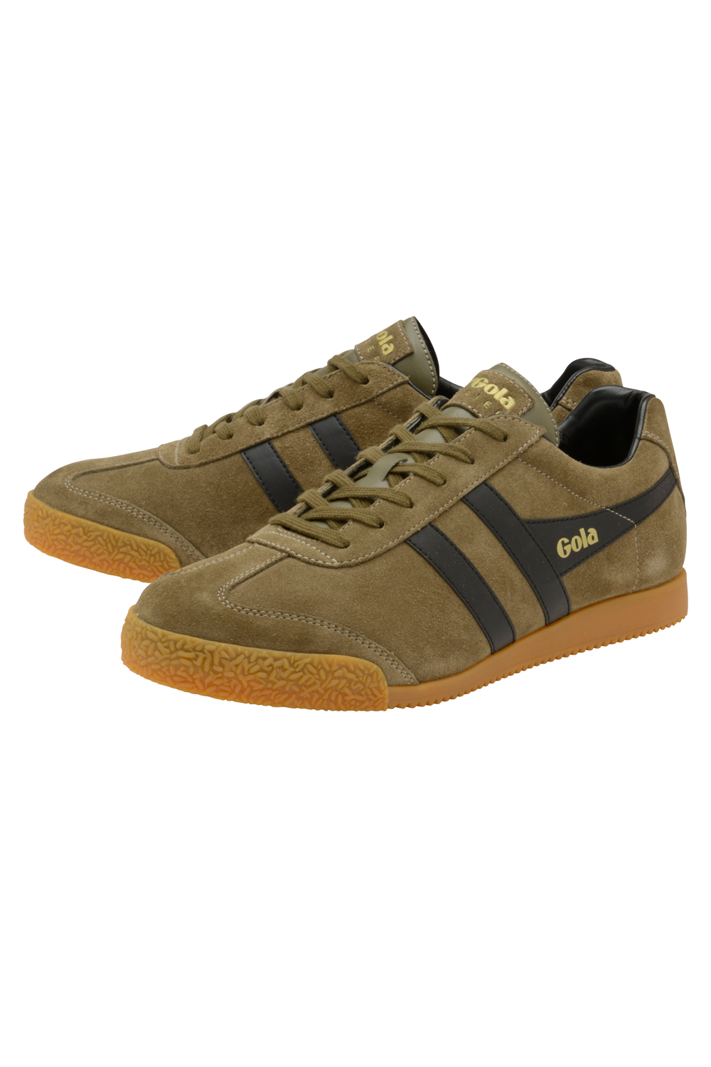 Gola-Harrier-Suede-Classic-Vintage-Lace-Up-Sneakers-Mens-Trainers-Low-Top-Shoes thumbnail 9