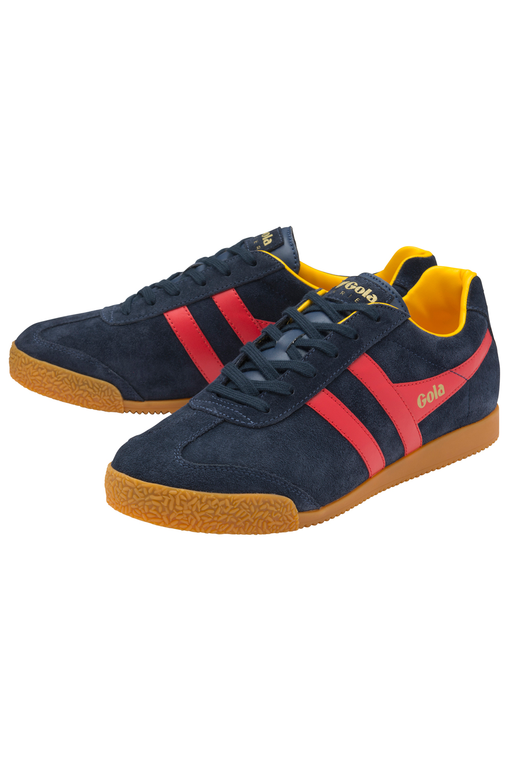 Gola-Harrier-Suede-Classic-Vintage-Lace-Up-Sneakers-Mens-Trainers-Low-Top-Shoes thumbnail 22