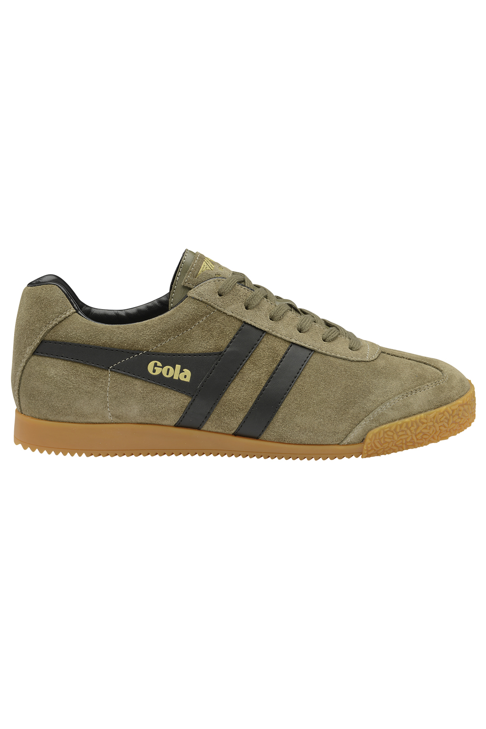 Gola-Harrier-Suede-Classic-Vintage-Lace-Up-Sneakers-Mens-Trainers-Low-Top-Shoes thumbnail 7
