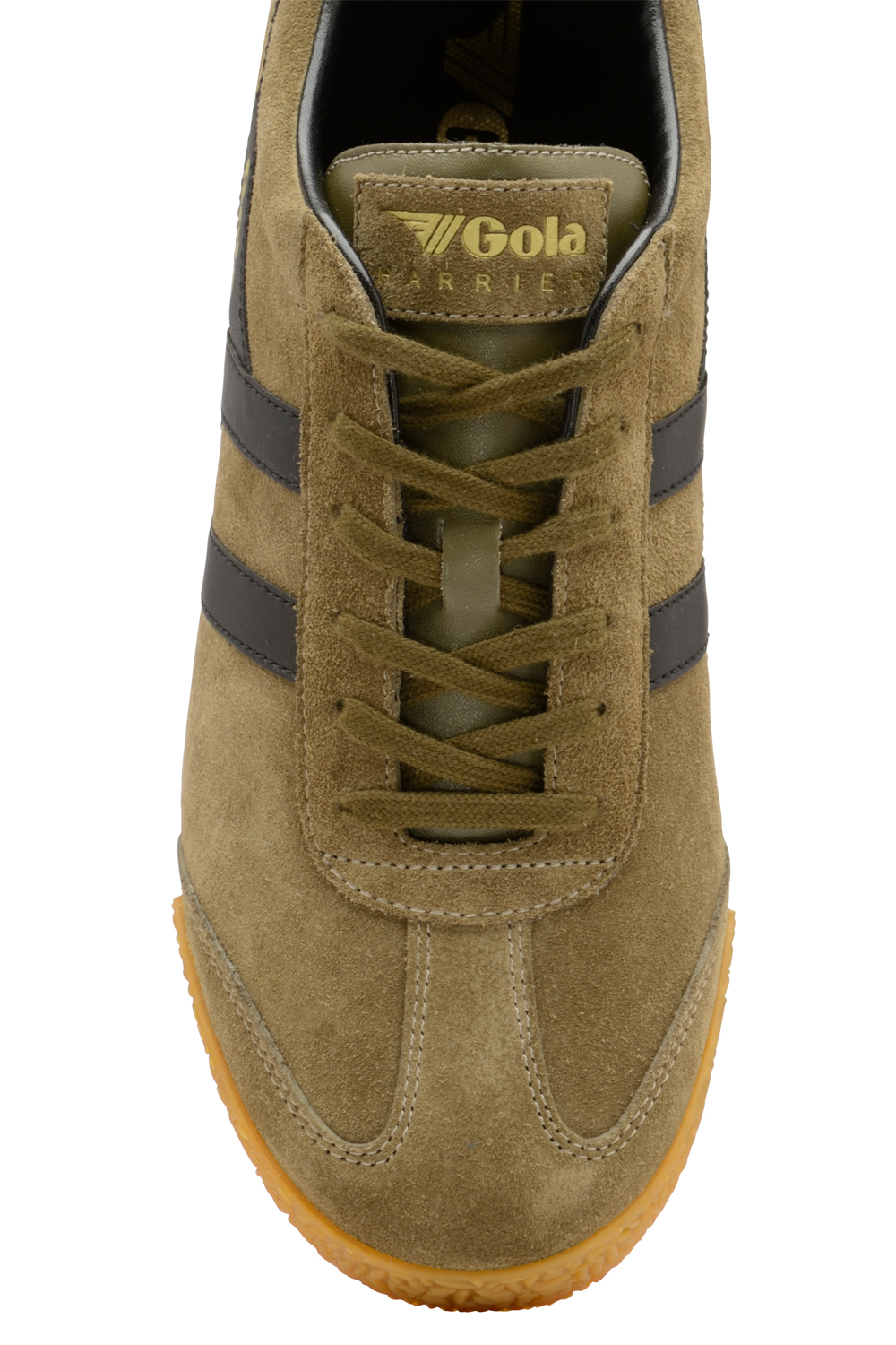 Gola-Harrier-Suede-Classic-Vintage-Lace-Up-Sneakers-Mens-Trainers-Low-Top-Shoes thumbnail 8