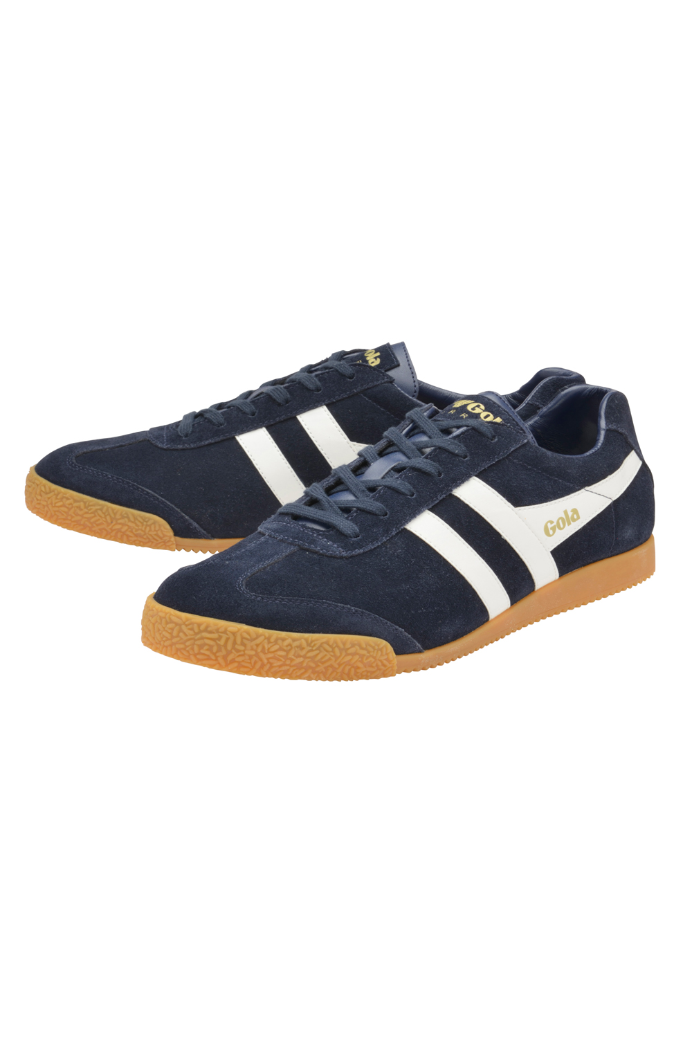 Gola-Harrier-Suede-Classic-Vintage-Lace-Up-Sneakers-Mens-Trainers-Low-Top-Shoes thumbnail 4