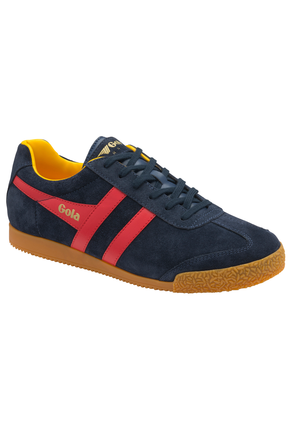 Gola-Harrier-Suede-Classic-Vintage-Lace-Up-Sneakers-Mens-Trainers-Low-Top-Shoes thumbnail 20