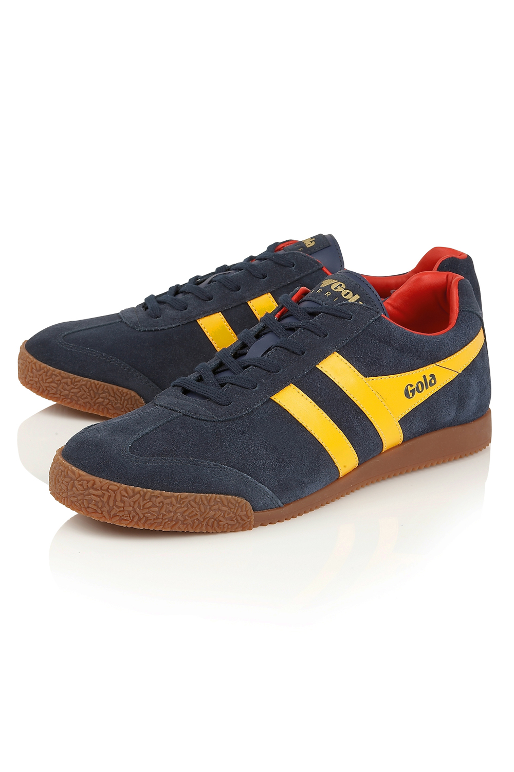 Gola-Harrier-Suede-Classic-Vintage-Lace-Up-Sneakers-Mens-Trainers-Low-Top-Shoes thumbnail 13